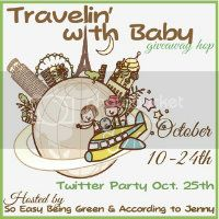Travelin' with baby giveaway hop and twitter party